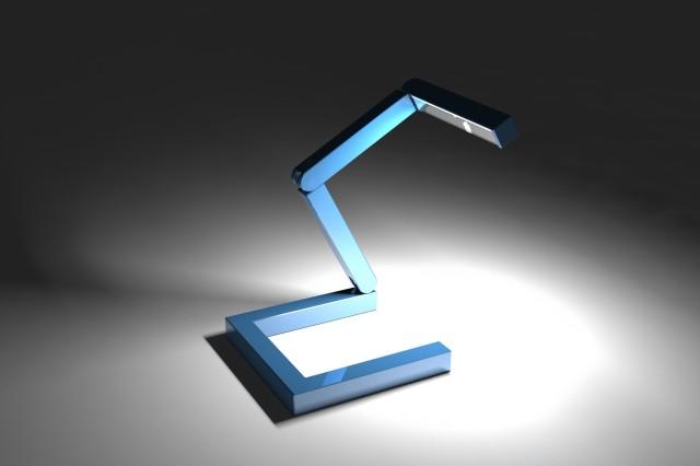 lampada blu piegata ok